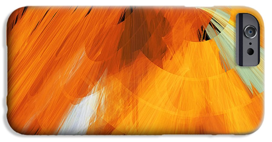 Ballerina IPhone 6s Case featuring the digital art Tutu Stage Left Abstract Orange by Andee Design