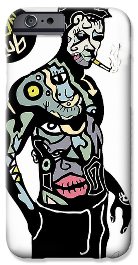 Fightclub IPhone 6s Case featuring the digital art Tyler by Kamoni Khem
