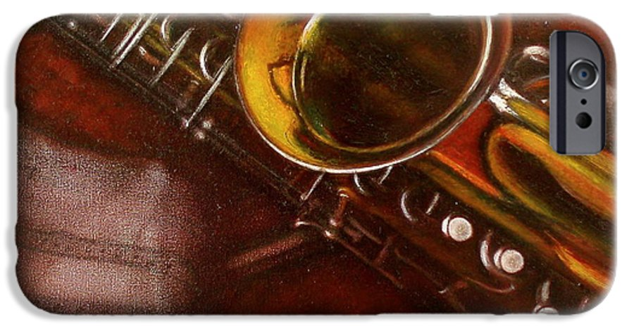 Still Life IPhone 6s Case featuring the painting Unprotected Sax by Sean Connolly