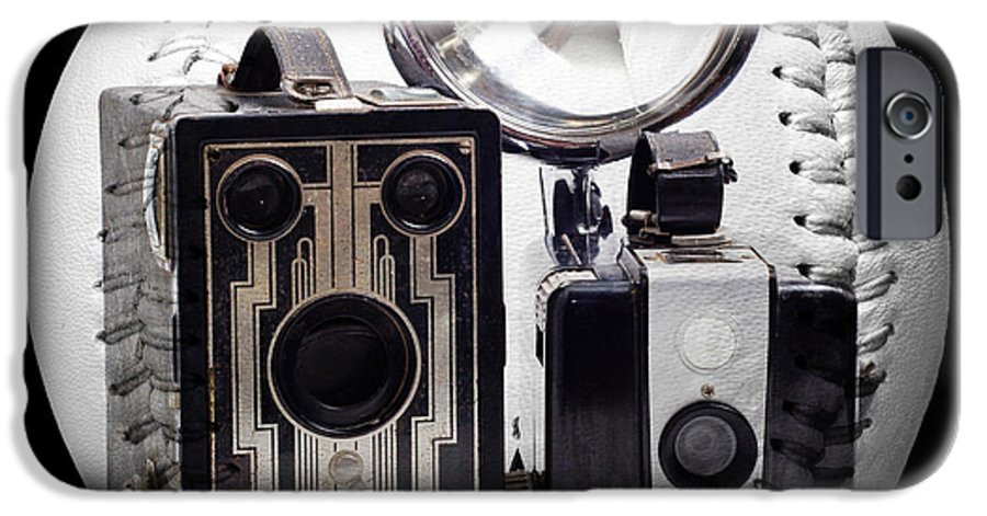 Camera IPhone 6s Case featuring the photograph World Travelers Baseball Square by Andee Design