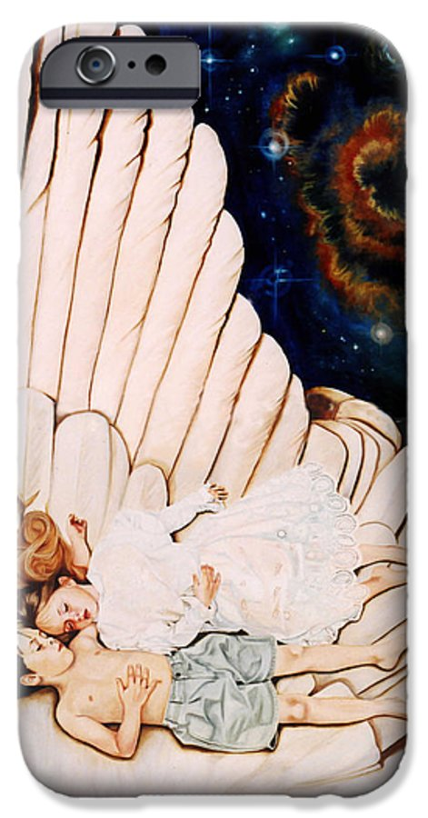 Be Still And Know That I Am God IPhone 6s Case featuring the painting Be Still by Teresa Carter
