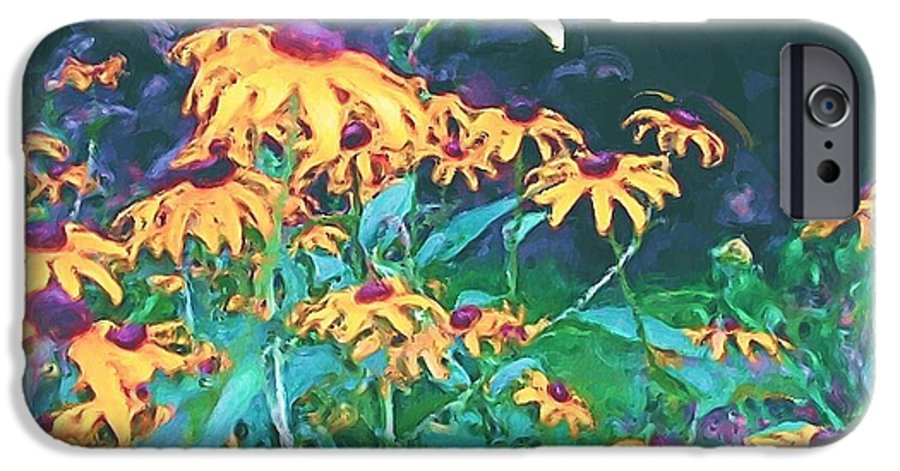 Mixed Media IPhone 6s Case featuring the painting A Lily In The Field by Patricia Griffin Brett