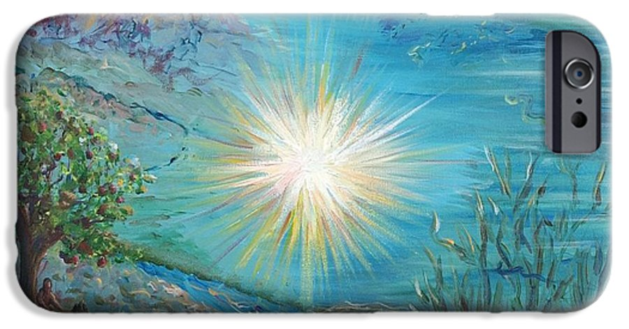 Creation IPhone 6s Case featuring the painting Creation by Nadine Rippelmeyer