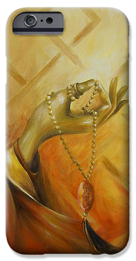Yoga IPhone 6s Case featuring the painting Gyan Mudra by Dina Dargo