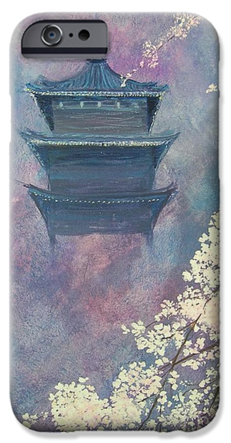 Landscape Japan IPhone 6s Case featuring the painting Japanese Spring Scene by Lizzy Forrester
