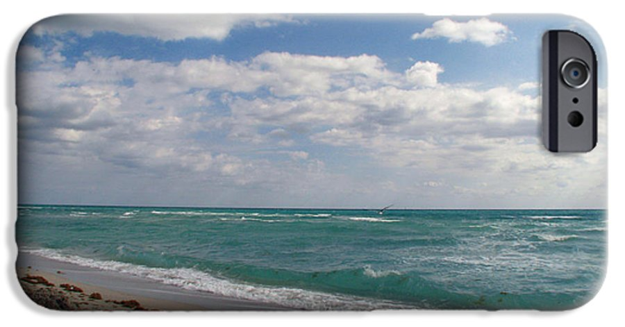 Miami Beach IPhone 6s Case featuring the photograph Miami Beach by Amanda Barcon
