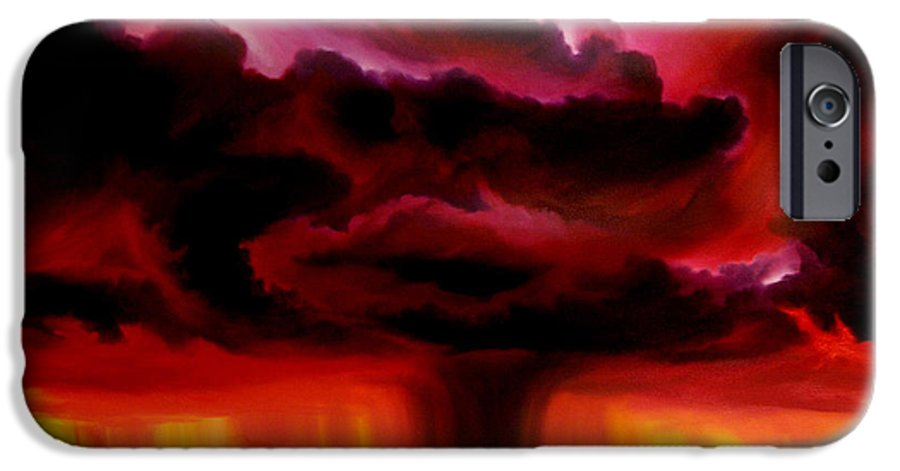 Skyscape IPhone 6s Case featuring the painting Microburst by James Christopher Hill