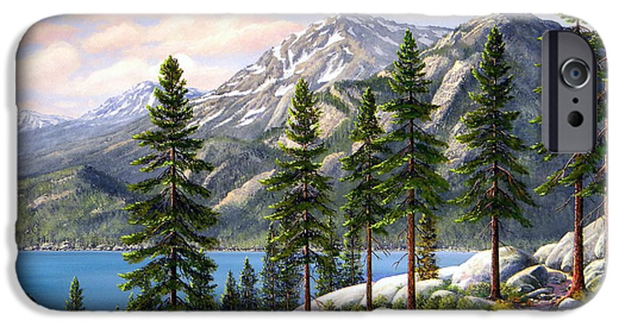Landscape IPhone 6s Case featuring the painting Mountain Trail by Frank Wilson