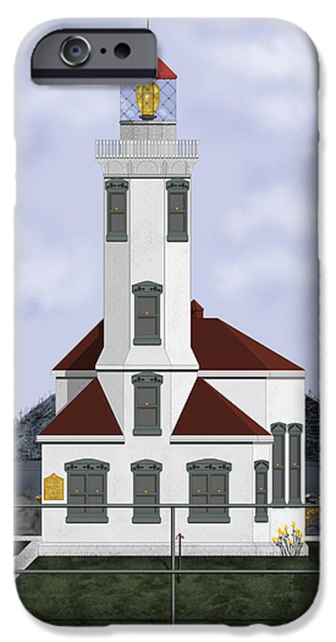 Lighthouse IPhone 6s Case featuring the painting Point Wilson Lighthouse by Anne Norskog