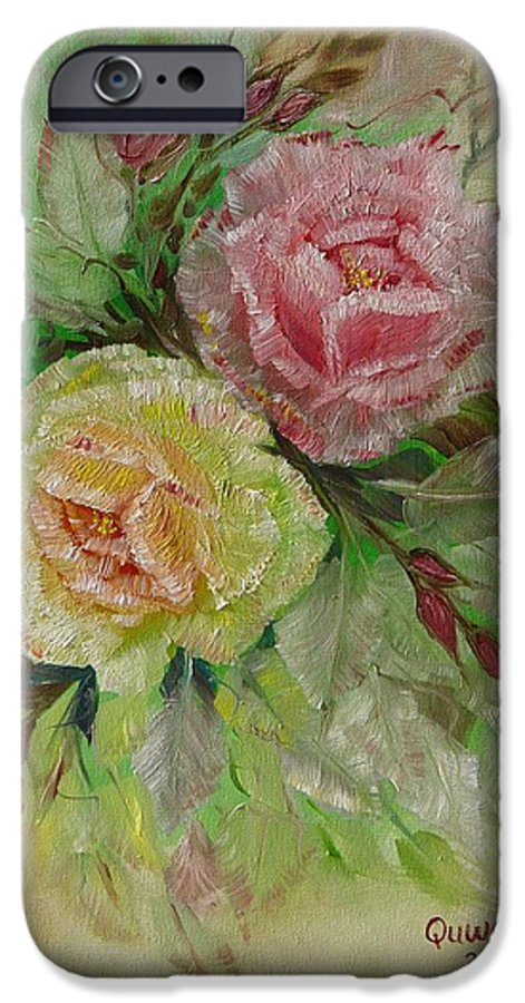 Roses IPhone 6s Case featuring the painting Roses by Quwatha Valentine