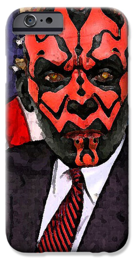 Star Wars IPhone 6s Case featuring the digital art Senator Darth Maul by Eric Forster