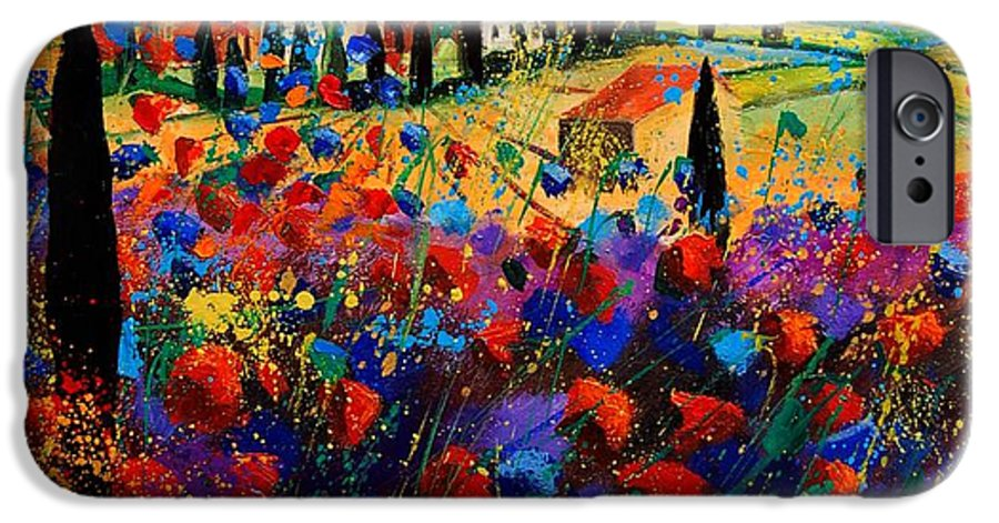 Flowers IPhone 6s Case featuring the painting Tuscany Poppies by Pol Ledent
