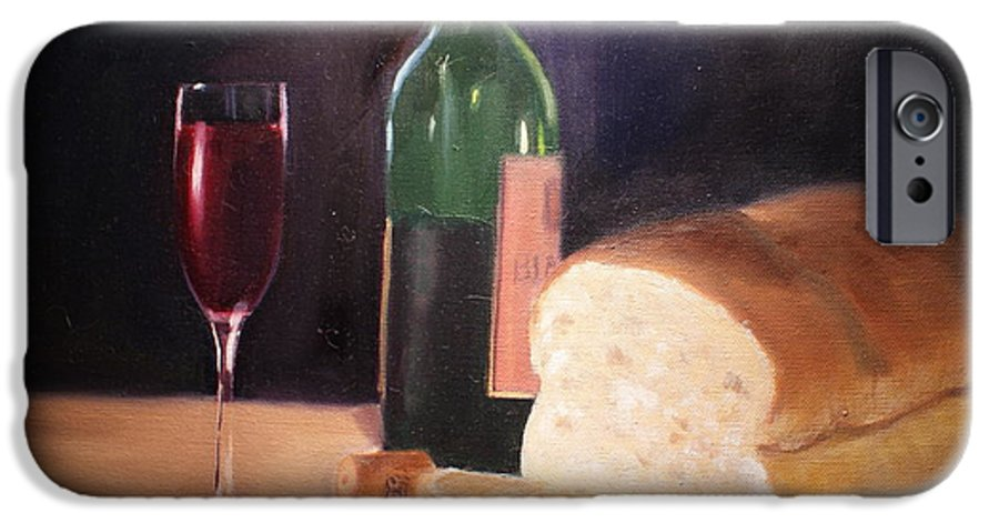 Wine IPhone 6s Case featuring the painting Untitled by Toni Berry