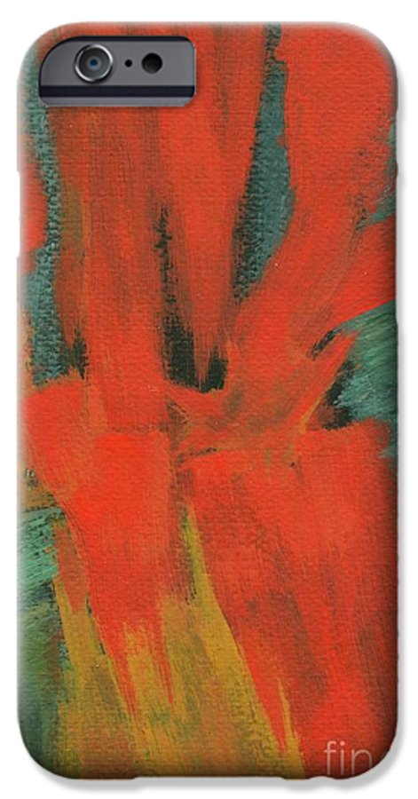 Abstract IPhone 6s Case featuring the painting A Moment In Time by Itaya Lightbourne