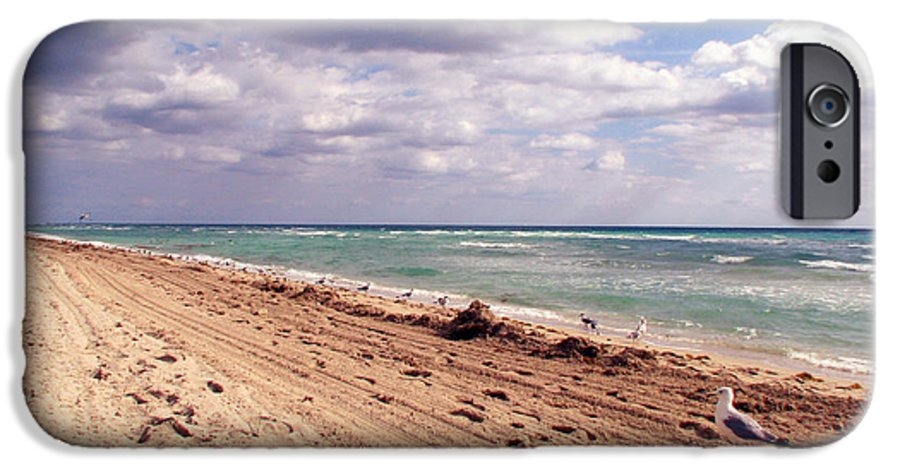 Beaches IPhone 6s Case featuring the photograph Miami Beach by Amanda Barcon