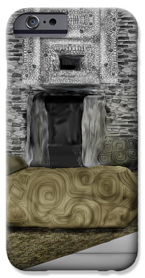 Newgrange IPhone 6s Case featuring the painting Newgrange Ireland by Anne Norskog
