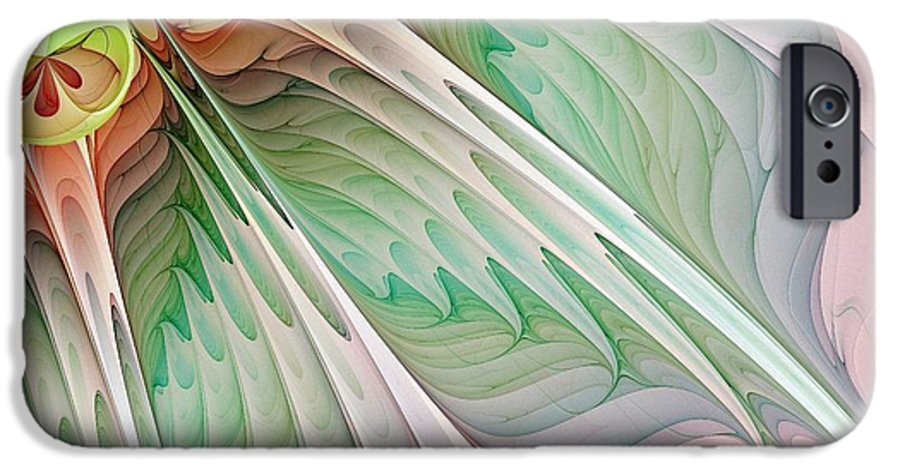 Digital Art IPhone 6s Case featuring the digital art Petals by Amanda Moore