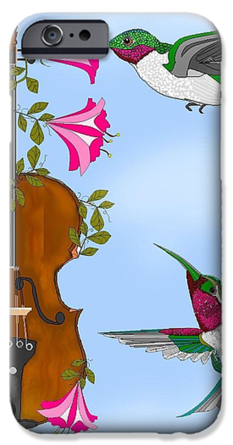Fantasy IPhone 6s Case featuring the painting Singing The Song Of Life by Anne Norskog