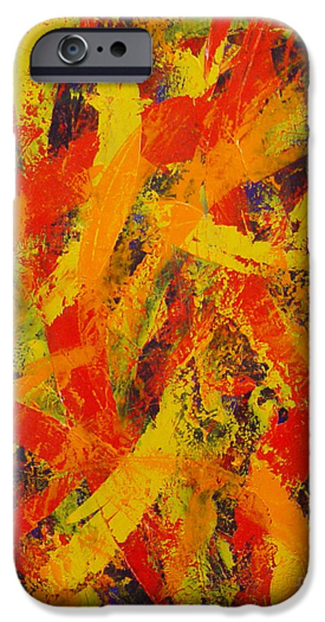 Abstract IPhone 6s Case featuring the painting Untitled by Dean Triolo