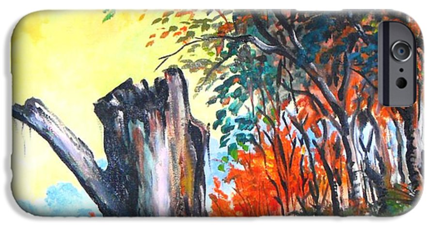 Landscape IPhone 6s Case featuring the painting Verde Que Te Quero Verde by Leomariano artist BRASIL