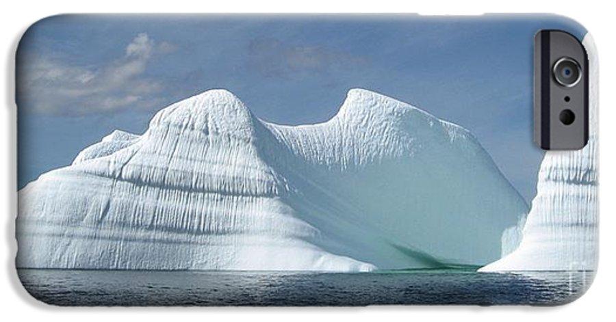 Iceberg Photograph Ice Water Ocean Sea Atlantic Summer Newfoundland IPhone 6s Case featuring the photograph Iceberg by Seon-Jeong Kim
