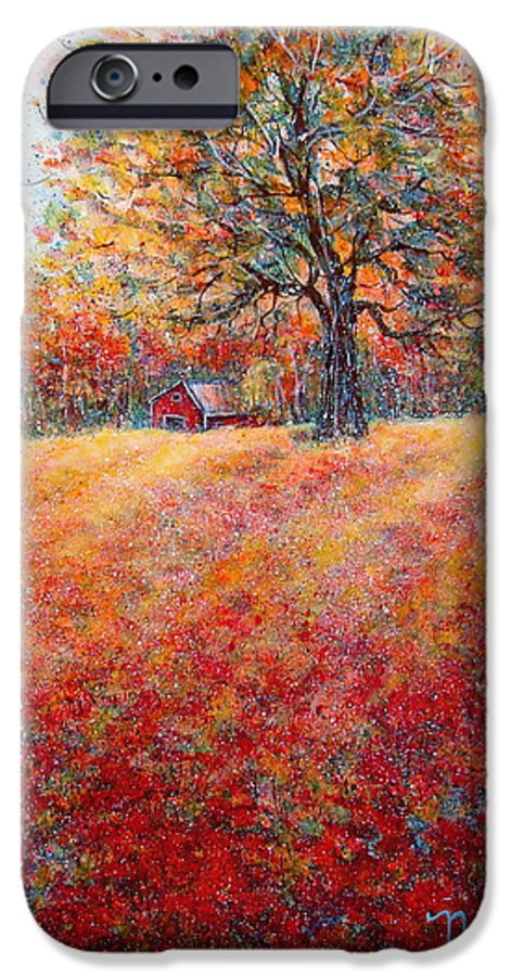 Autumn Landscape IPhone 6s Case featuring the painting A Beautiful Autumn Day by Natalie Holland