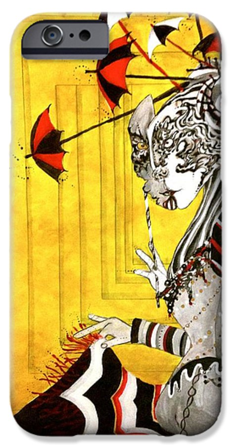 Yellow IPhone 6s Case featuring the painting A Net To Catch The Wind by Brittney Norton
