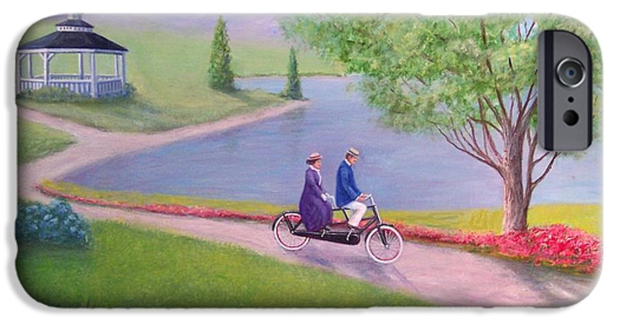 Landscape IPhone 6s Case featuring the painting A Ride In The Park by William H RaVell III