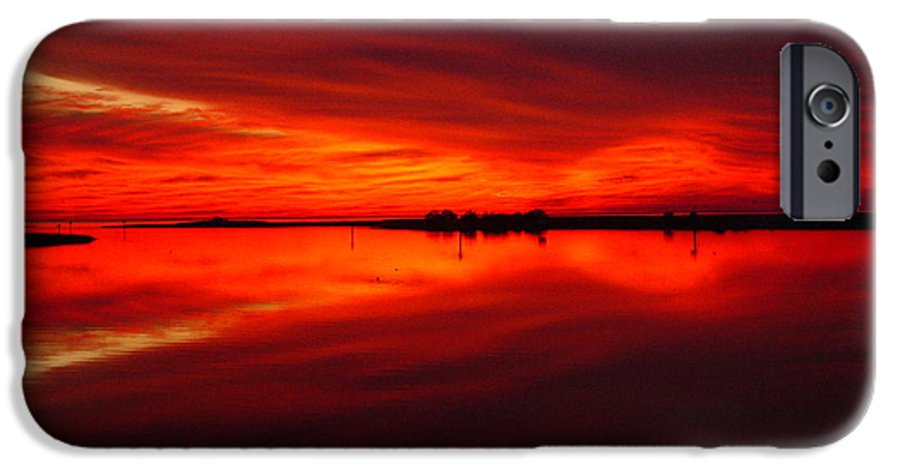 Sunset IPhone 6s Case featuring the photograph A Sunset Kiss -debbie-may by Debbie May