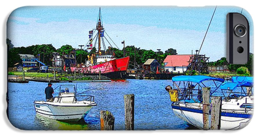 Lewes Delaware Photography IPhone 6s Case featuring the photograph A View Of The Light Ship by Jeffrey Todd Moore