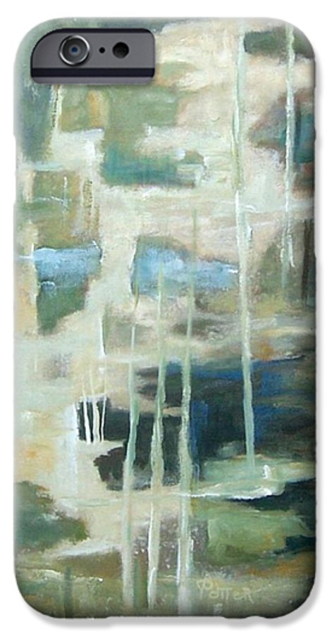 Abstract IPhone 6s Case featuring the painting A Walk In The Woods by Virginia Potter