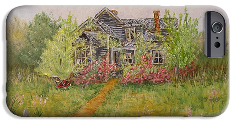 Landscape IPhone 6s Case featuring the painting Abandoned House by Quwatha Valentine