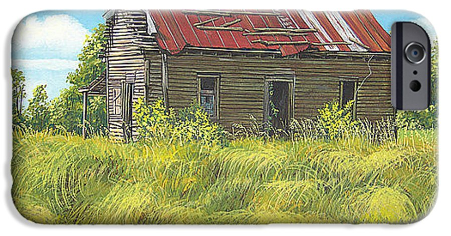 Landscape IPhone 6s Case featuring the painting Abandoned by Peter Muzyka