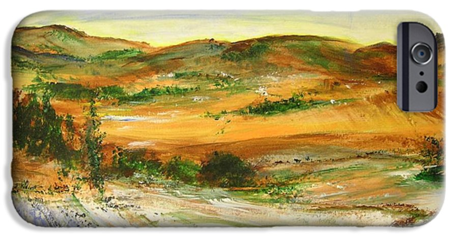 Landscape IPhone 6s Case featuring the painting Aberdeen Winter Landscape by Lizzy Forrester