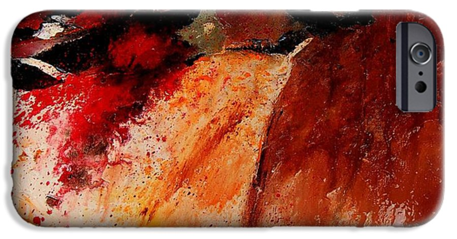 Abstract IPhone 6s Case featuring the painting Abstract 010607 by Pol Ledent