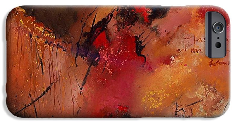 Abstract IPhone 6s Case featuring the painting Abstract 0408 by Pol Ledent