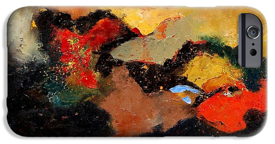 Abstract IPhone 6s Case featuring the painting Abstract 8080 by Pol Ledent