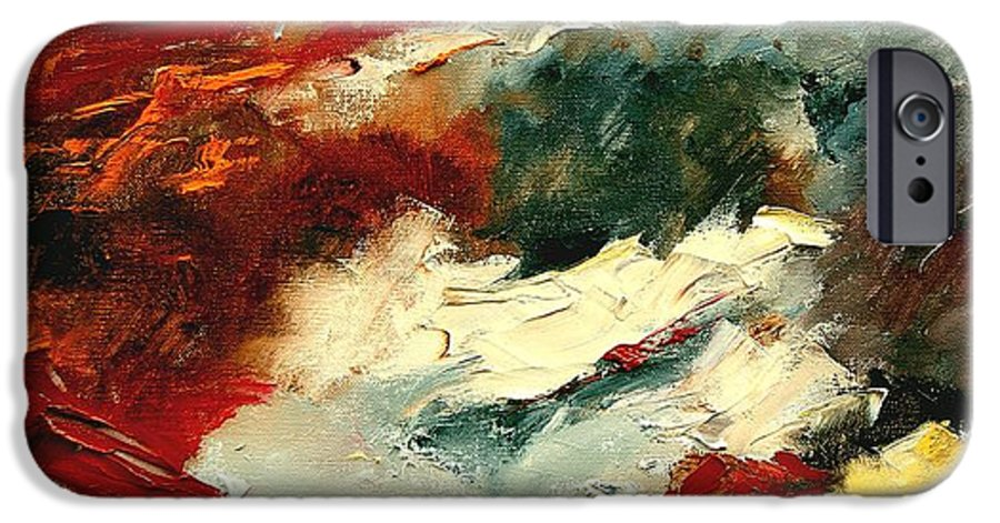 Abstract IPhone 6s Case featuring the painting Abstract 9 by Pol Ledent