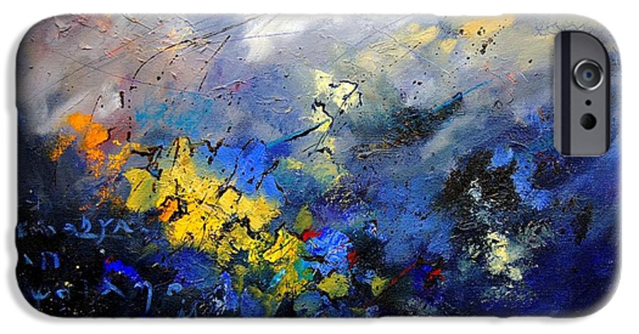 Abstract IPhone 6s Case featuring the painting Abstract 970208 by Pol Ledent