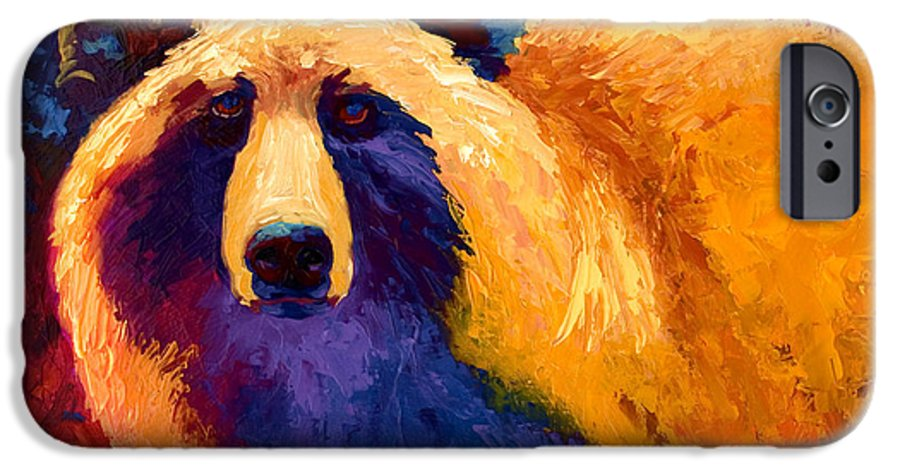 Western IPhone 6s Case featuring the painting Abstract Grizz II by Marion Rose