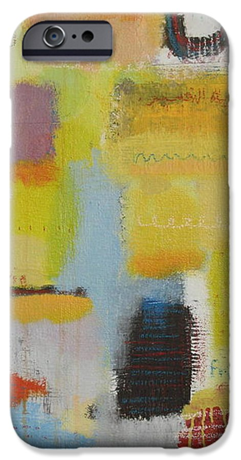 Abstract IPhone 6s Case featuring the painting Abstract Life 3 by Habib Ayat
