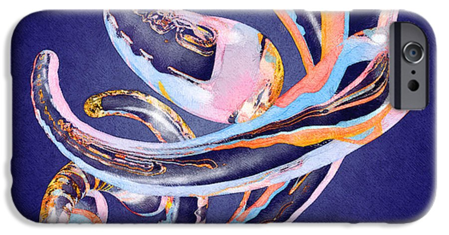 Abstract IPhone 6s Case featuring the painting Abstract Number 11 by Peter J Sucy