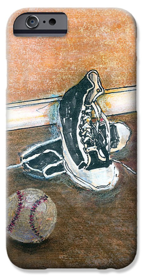 Tennis Shoes IPhone 6s Case featuring the mixed media After The Game by Arline Wagner