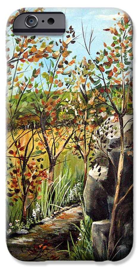 IPhone 6s Case featuring the painting Afternoon Stroll by Ruth Palmer