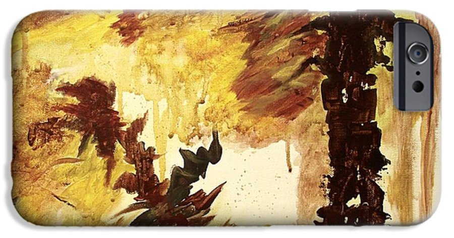 Abstract IPhone 6s Case featuring the painting Age Of The Fall by Itaya Lightbourne