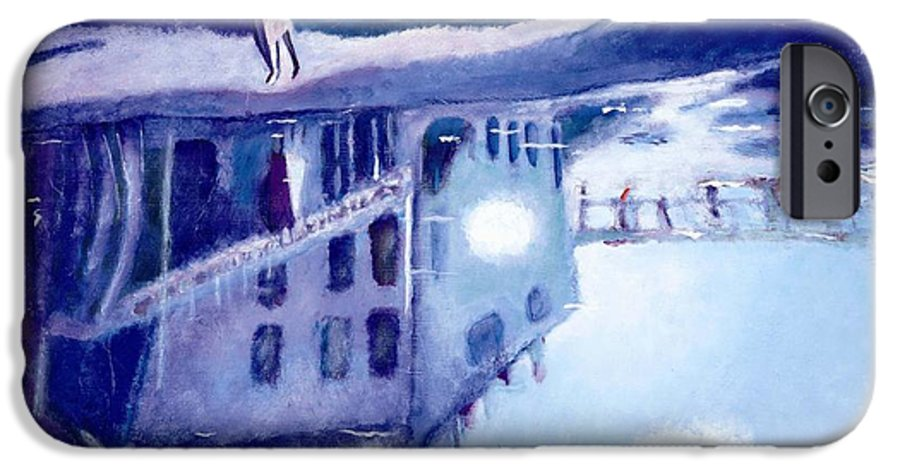 Cityscape IPhone 6s Case featuring the painting Always Two by Olga Alexeeva