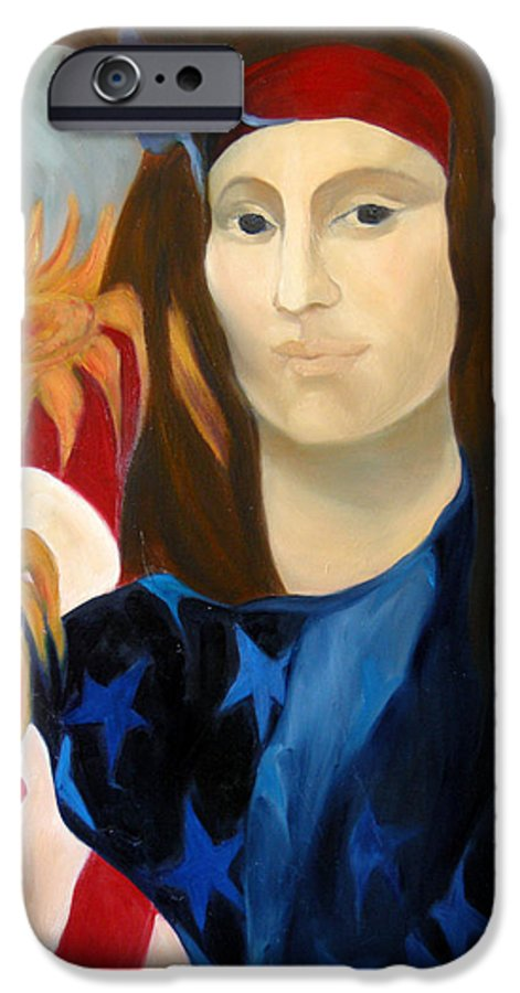 Figurative IPhone 6s Case featuring the painting American Jokonda by Antoaneta Melnikova- Hillman