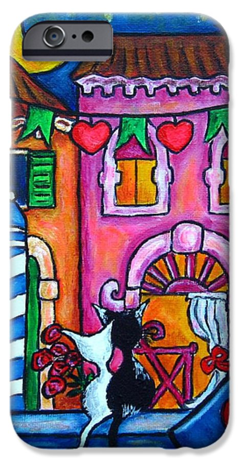 Cats IPhone 6s Case featuring the painting Amore In Venice by Lisa Lorenz