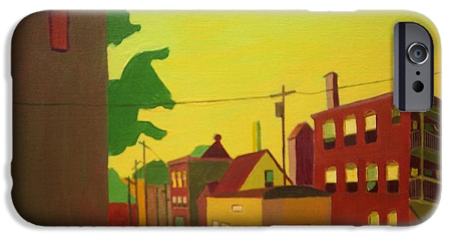 Jamaica Plain IPhone 6s Case featuring the painting Amory Street Jamaica Plain by Debra Bretton Robinson
