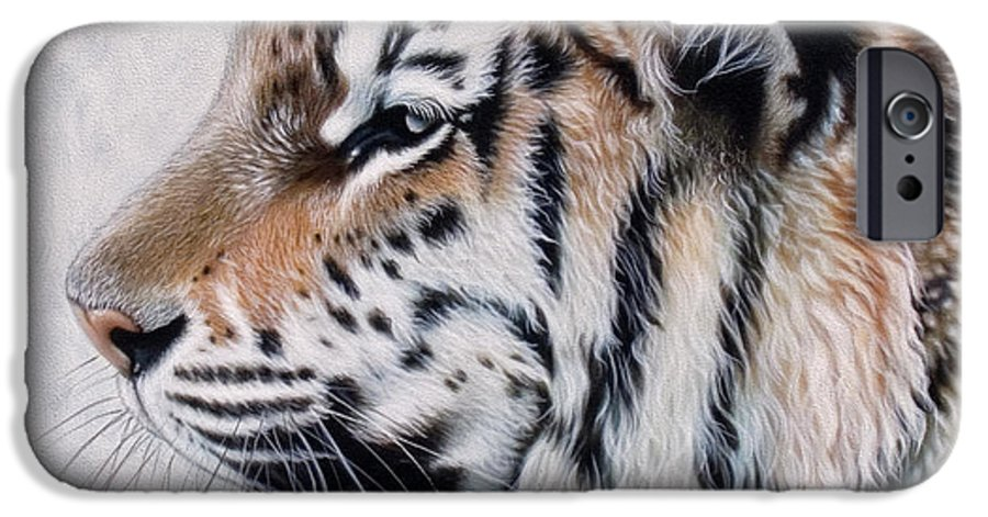 Acrylic IPhone 6s Case featuring the painting Amur by Sandi Baker